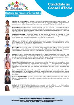 Conseil d`École - UPEL Chateaubriand