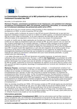 La Commission Européenne et la BEI présentent guide