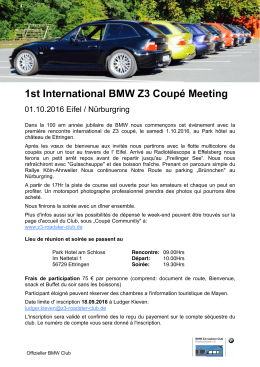 1st International BMW Z3 Coupé Meeting