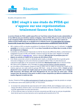 Réaction - KBC.COM