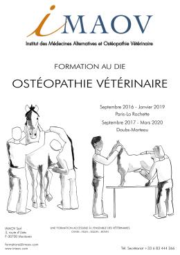 DIE Ostéopathie vétérinaire 2016-2019 Paris-Morteau