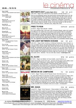 zum Kinoflyer - le cinéma FEUERWEHRMAGAZIN N°1