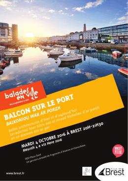 Balade en ville Balcon sur le port