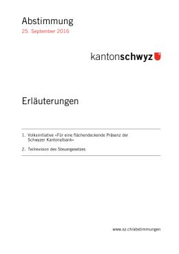 Erläuterungen - Kanton Schwyz