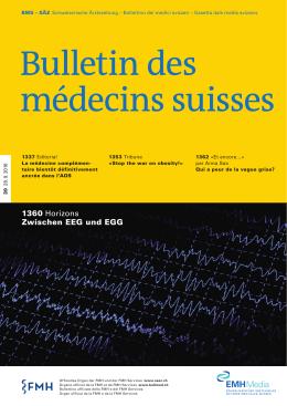Bulletin des médecins suisses 39/2016