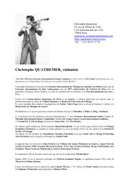Christophe Quatremer - Centre Artistique de Piégon