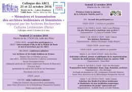 Programme - Archives Recherches Cultures Lesbiennes