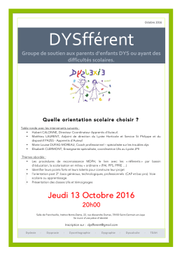 Informations et inscription