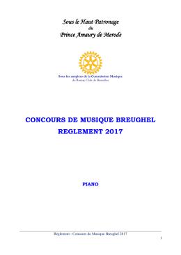 REGLEMENT CONCOURS PRIX ROTARY BREUGHEL