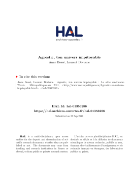 Agrestic, ton univers impitoyable - Hal-SHS