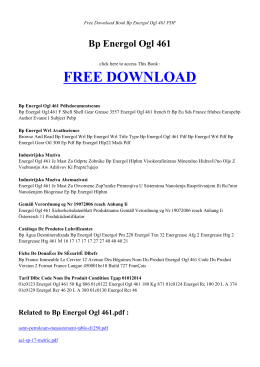 Bp Energol Ogl 461 - INDEX BOOK PDF
