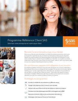 Programme Référence Client