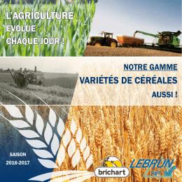 Variétés céréales 2016-2017