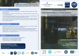 Programme  - IRJS - Université Paris 1 Panthéon