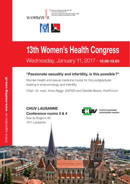 13th Women`s Health Congress