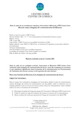voir l`offre - CPIE Centre Corse