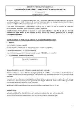 Document d`informations générales Regroupement de