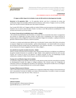 Document - ENvironnement JEUnesse