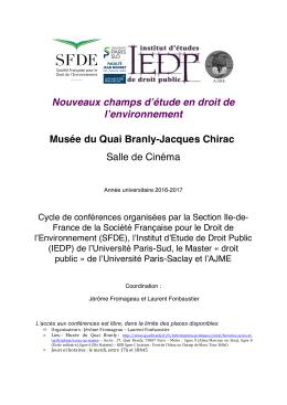 Programme complet - Société Française pour le Droit de l