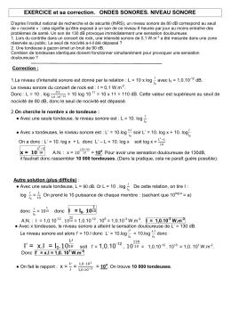 Exercice 3: Mesure de vitesse à l`aide d`un cinémomètre (4 points)