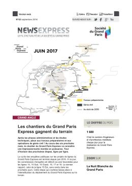 Les chantiers du Grand Paris Express gagnent du terrain