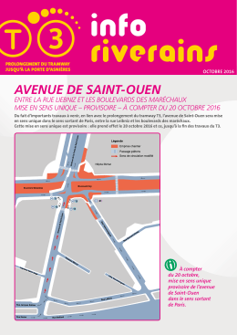 avenue de saint-ouen - Prolongement du tramway T3