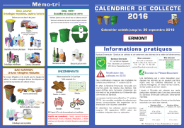 calendrier 2016 du Syndicat Emeraude.
