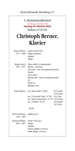 Programm - Konzertfreunde Straubing