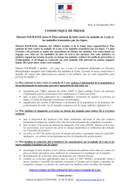 communique de presse - Ministère des Affaires sociales et de la Santé