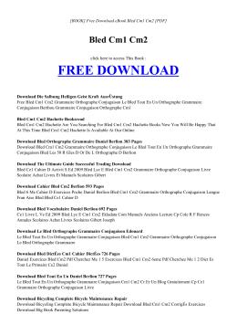 BLED CM1 CM2 - INDEX | Free eBook