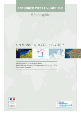 Géographie - Ministère de l`éducation nationale