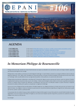 Newsletter Septembre 2016