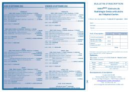bulletin d`inscription - Service de Radiologie B de l`Hopital Cochin