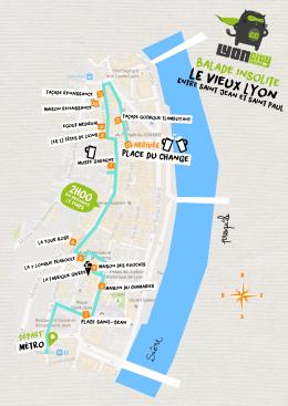 plan balade insolite vieux Lyon