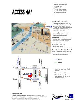 Plan d`accès - Soletanche Bachy
