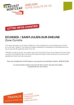 d`info - Mairie d`Ecuisses
