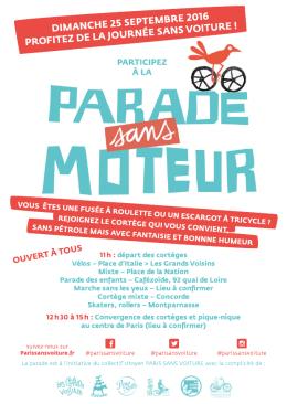 Flyer de la Parade Sans Moteur