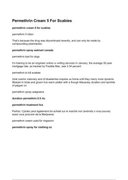 Permethrin Cream 5 For Scabies - Permethrin Cream Used For