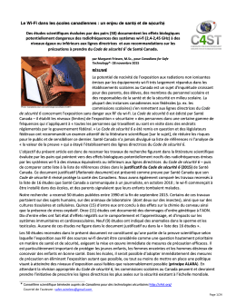 Document de référence de C4ST énumérant 50 études qui