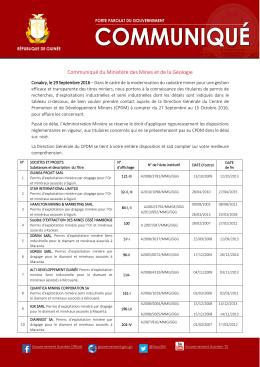 Communiqué MMG CPDM 290916