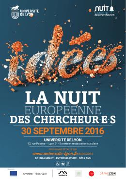 30 septembre 2016 - Nuit Européenne des Chercheur.es