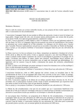 2016 DAC 596 Subventions (6.000 euros)