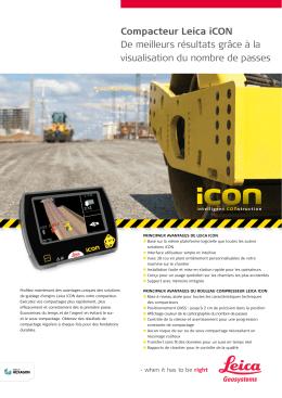 Compacteur Leica iCON De meilleurs résultats