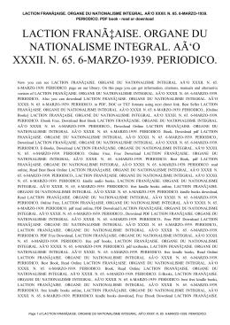 laction franã⁄aise. organe du nationalisme integral. aã'o xxxii. n. 65