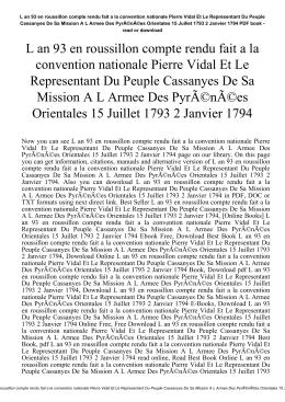 L an 93 en roussillon compte rendu fait a la convention nationale