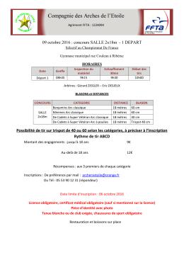 mandat - Club de Tir à l`Arc - Limoges