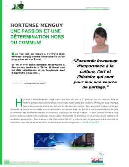 Hortense Menguy - Portail étudiant