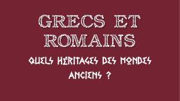 Grecs et Romains - MA MAITRESSE DE CM1-CM2
