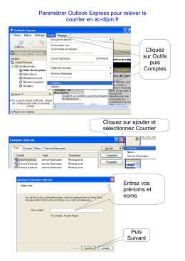 Paramétrer Outlook Express pour relever le courrier en ac