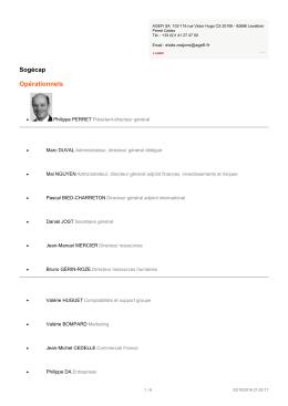 Imprimer le profil de l`entreprise Sogécap